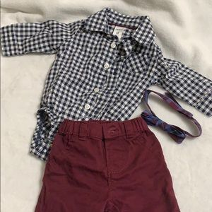 Carter's Baby Dress Up Bow tie suit